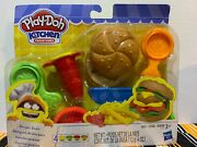 Hasbro Play-doh Kitchen Creations Burger Bash With 4 Cans Of Compounds New