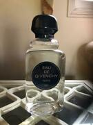 Rare Collectible Eau De Givenchy Empty Factice Large Bottle H 7and039and039 And W 4.5and039and039 New