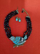 Heidi Daus Marquise Madness Embellished Bird Necklace And Earrings