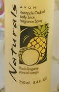 Avon Naturals Pineapple Cocktail Body Spray 8.4 Oz. Rare And New