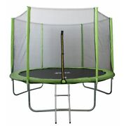 North Gear 10and039 Trampoline Set With Safety Enclosure And Ladder