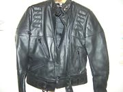 Womens Small Harley-davidson Black Leather Jacket With Belt
