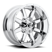 4 22x10 Fuel D536 Chrome Maverick Wheels 6x135 And 6x139.7 For Ford Toyota Jeep