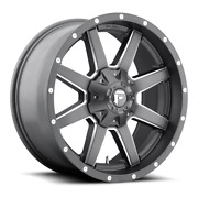 4 20x10 Fuel Anthracite And Milled Maverick Wheels 6x135 And 6x139.7 For Toyota