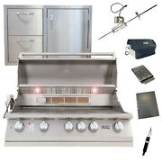 Lion 40-inch 5-burner Grill L90000 W/ Made In Usa 32-inch Door/drawer Combo