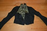 Victorian Antique Black Brocade And Lace Eurpopean Ladies Jacket/blouse Mourning