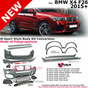 For 15-18 Bmw X4   M Style Body Kit Rear Front Bumpers Fender Flares Side Skirts