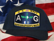 Aviation Aerographerand039s Ag Rating Rate Hat Patch Cap Us Navy Pin Up Wowrh Vet