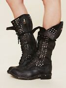 Rare Jeffrey Campbell Free People Studded Seattle Love Leather Boots Size 7