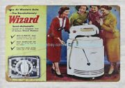 Cottage Shop Wall Art 1940 Western Auto Wiz-o-matic Washers Metal Tin Sign
