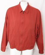 Tommy Bahama Lined Full Zip Collared Interior Pocket Red Jacket Men's Xxl