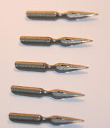 Fountain Pen Nibs Perry And Co Manifold London Vintage Ink Dip Calligraphy 5 Pcs