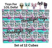 Lot Of 12 Lol Surprise Tiny Toys Display Cube Box Mini Robot Doll Glamper Pieces