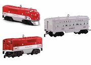 2018 Hallmark Ornaments 2245p, 2245c And 2436 Texas Special Lionel Set Of 3
