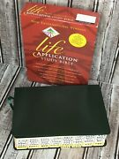 Niv Life Application Study Bible Gilt Edge Indexing Tabs Green Bonded Leather