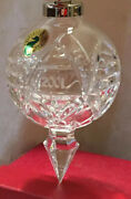 Waterford Crystal Rare Annual 2001 Ball Ornament 10th Edition Lovely Mint In Box