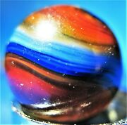 Fantastic Rare Akro Agate Super Hybrid Popeye Marble With 7 Plus Colors