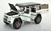 Almost Real 1/18 Model Car Cross-country Mercedes Benz G500 White Diecast