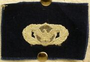 Us Air Force Basic Security Police Badge Insignia Blue Fatigue Uniform Patch