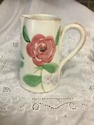 The Cellar Colorful Italian Art Pottery Pitcher, 8 1/4 Tall