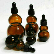 3 - 50 Pcs 10100 Ml Amber Thick Glass Bottles Gourd Bottle W/ Droppers