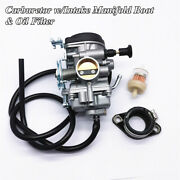 Carburetor With Intake Manifold Boot And Oil Filter Kit For Suzuki Dr200s Dr200se