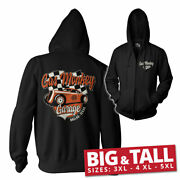 Officially Licensed Gas Monkey Garage Racing Bigandtall 3xl4xl5xl Zipped Hoodie