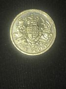 Rare Collectable 2015 One Pound Coin The Royal Arms Unicorn And Crowned Lion Andpound1