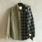 Nwt American Eagle Ae Men's Flannel Lined Button Down Overshirt 2 Colors All Szs