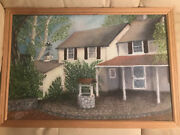 Mildred Michener Farmhouse In Fairmount Park Oil Painting - Signed/framed