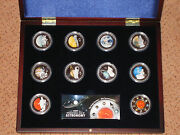 Cook Islands 2009 5 Silver Set Year Of Astronomy Solar System Only 2000