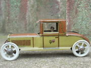 Antique Germany Tin Litho Penny Toy Roadster 321 George Fisher - Nice -