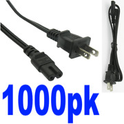 Lot1000x/pk 3ft 18awg/guage 2pin Notebook/laptop Power Cord/cablefigure Eight/8