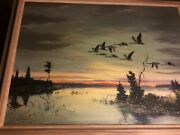 Les C. Kouba Original1946 Oil On Canvassigned 75 Year Old Painting.