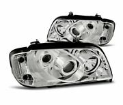 Headlights Lpme10 For Mercedes W202 C-class 1993-2000 Chrome Lhd