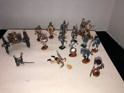 53rd Va. Infantry Civil War Metal Toy Soldiers Hand Painted 17 Piece Lot