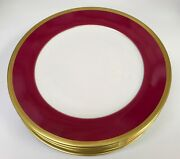 Haviland Laque De Chine Charger Aubergine 6 Available 12.2 Sold As Set Of 2