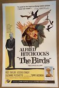 The Birds Original Film Poster Linen Backed Us One Sheet 1963 Alfred Hitchcock