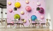3d Cookie Dessert I053 Business Wallpaper Wall Mural Self-adhesive Commerce Amy