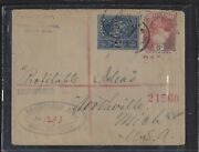 Tonga Cover Pp2412b 1906 1/2d+6d Reg Cover To Usa