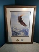 Eagle John Swatsley Signed Spirit Of The North Print Forestry Stamp Golden Coin