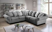 Nicole Fabric Sofa 2 Seater 3 Seater 3+2 Large Corner Couch Grey Silver Linen
