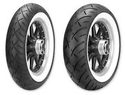Metzeler White Wall Me888 Front/rear Tire Set 130/90b16 150/80b16 Indian Chief