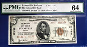 5 1929 National Bank Note F-1800-2 Indiana Pcgs64 Choice Uncirculated
