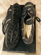 Never Worn - Womens Fabric And Leather Lace Up Shoe - Size 40