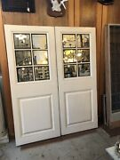 Pair 1952 Rolling Ballroom Pocket Doors By Edwin Lundie For Thistledor Mansion