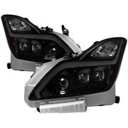 Xtune For Infiniti G37 Coupe Hid Only 08-15 Projector Headlights Black Smoked Pr