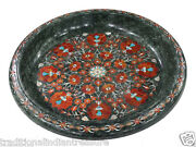 15 Green Marble Fruit Bowl Carnelian Mosaic Marquetry Home Decor Thanks Gifts