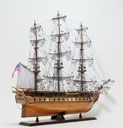 Uss Constitution Old Ironsides Ship Model Large 38 Wooden Replica Collectible