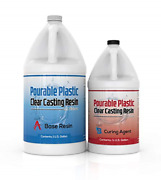 Pourable Plastic Clear Casting Resin 1.5 Gallon Kit Deep Pours Up To 2 Thick
